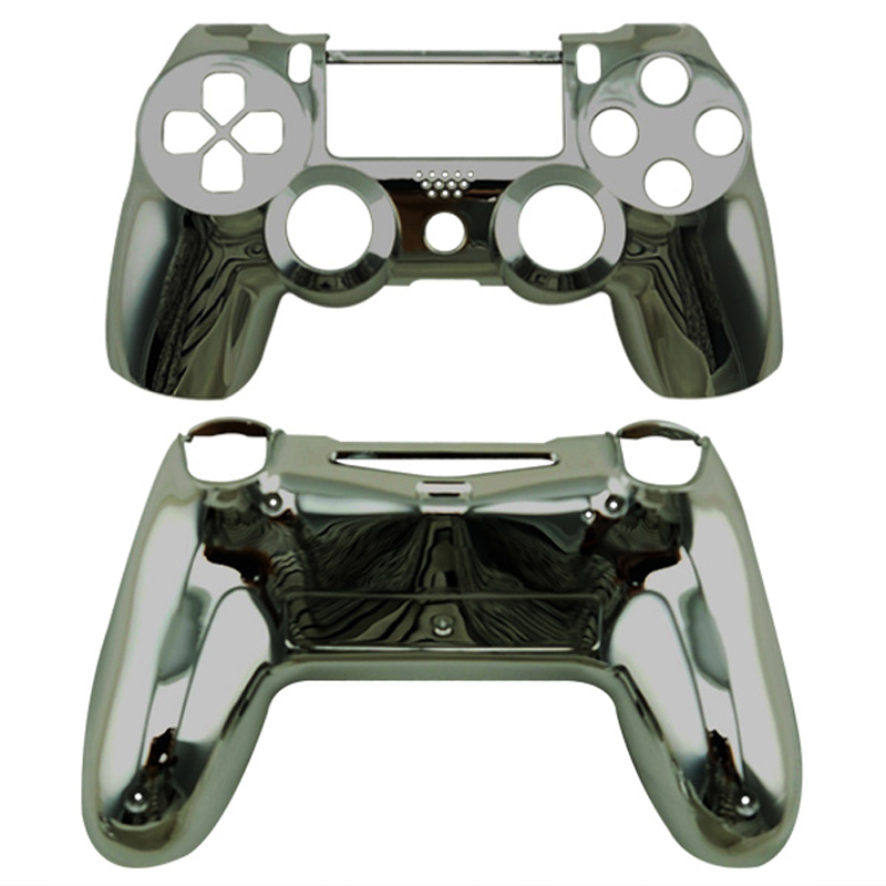 Chrome Gun Black Custom Shell Case Mod Kit For Sony PlayStation 4 PS4 Dualshock 4 Wireless Controller(China (Mainland))