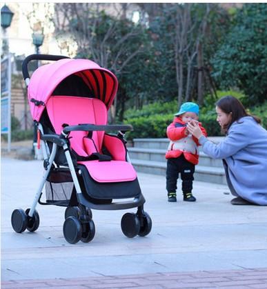 Car baby can sit reclining stroller lightweight umbrella stroller car shock absorbers portable lightweight stroller<br><br>Aliexpress