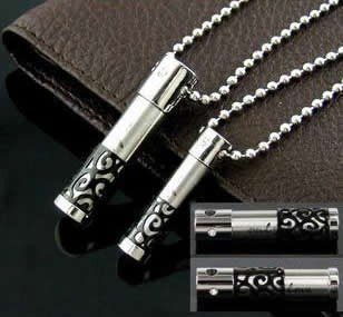 New fashion Black tube 316L stainless steel couple pendant necklace stylish jewelry wholesale factory price Free shipping