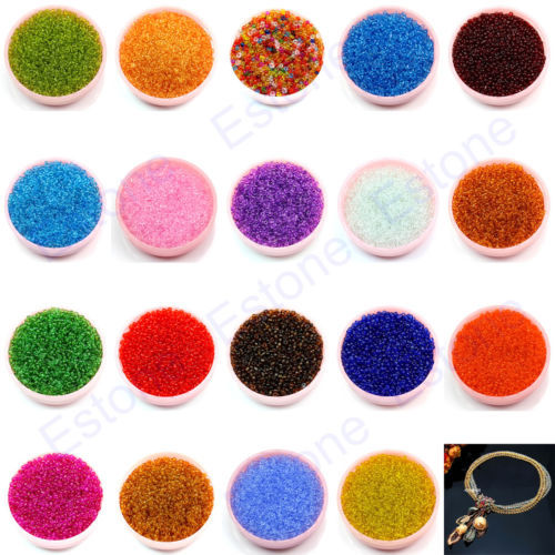 Free Shipping 1500Pcs 2mm Czech Glass Seed Spacer Beads Jewelry Making DIY Pick 19 Colors(China (Mainland))