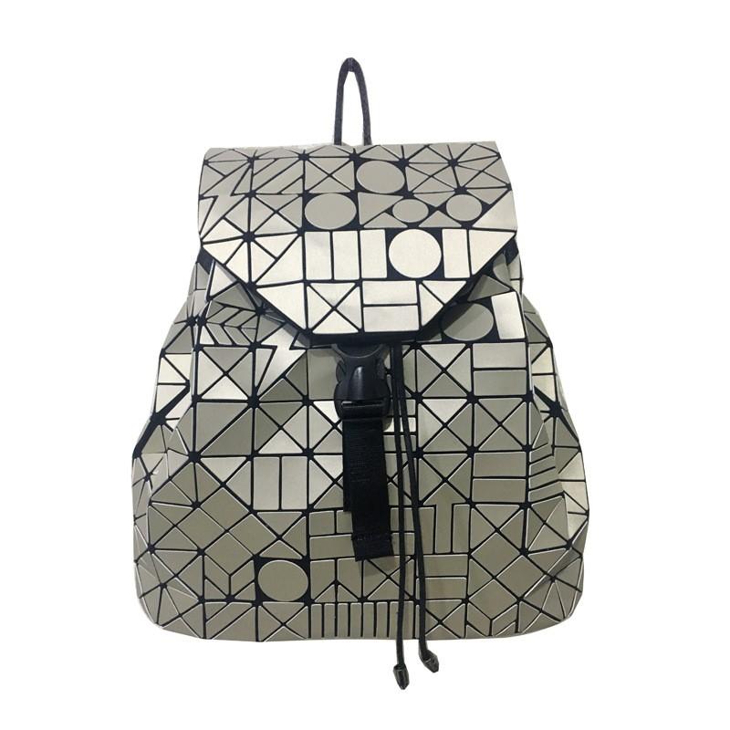 2017 Vintage Women-bag Backpack Geometric Shoulder Student's school bag Hologram/Luminous backpack baobao bag designer's