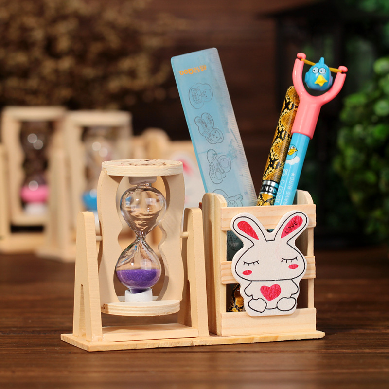 2015 New Arrival Wood Square Korean Pen Holders Office Accessories Office Supplies Pen Organizer 135*50*100mm(China (Mainland))