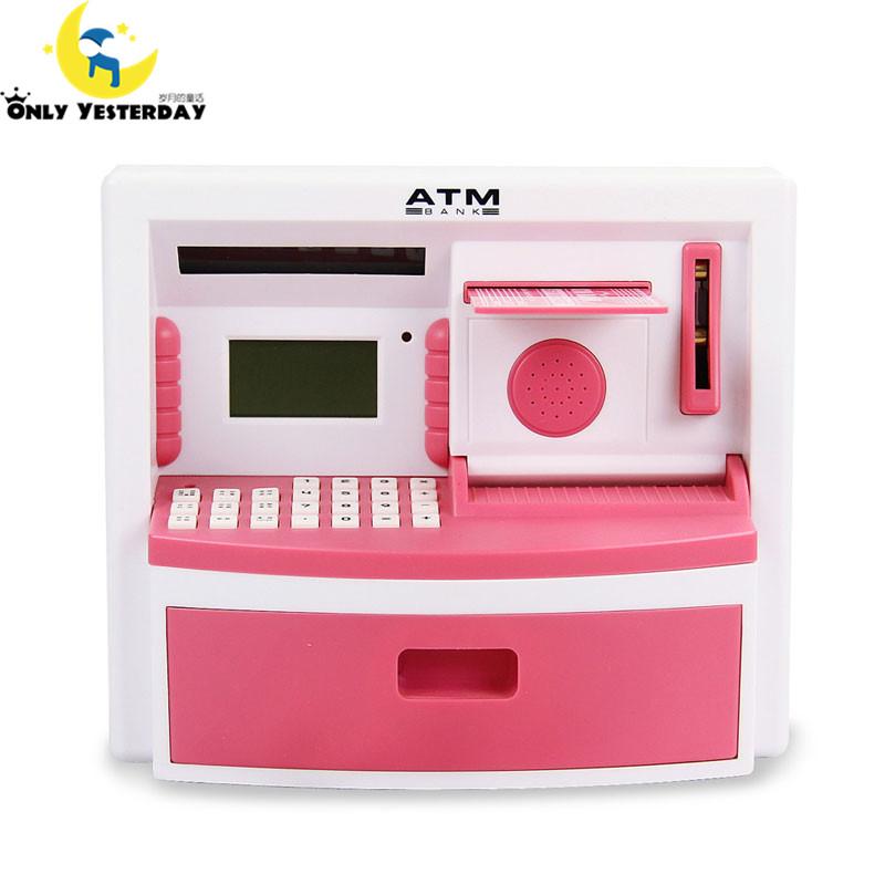 Mini ATM Bank Toy Digital Cash / Coin Storage Save Money Box ATM Bank Machine Money Saving Piggy Bank Kids Gift(China (Mainland))