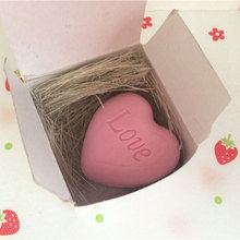 New Gifts Small Bath Organic Soap Fall In Love Wedding Favours Pink Heart #78512(China (Mainland))