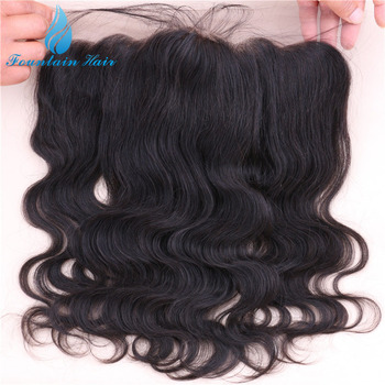 Virgin Human Hair Remy Indian Lace Frontal Closure 13x4 With Free Shipping 7A Grade Cheap Ear To Ear Lace Frontal With Baby Hair