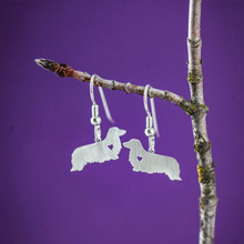 Buy SALE Dachshund LH Dog Earrings Silver Dangle Charm Earrings women Bijoux Jewelry Brincos Pendientes Mujer for $30.78 in AliExpress store