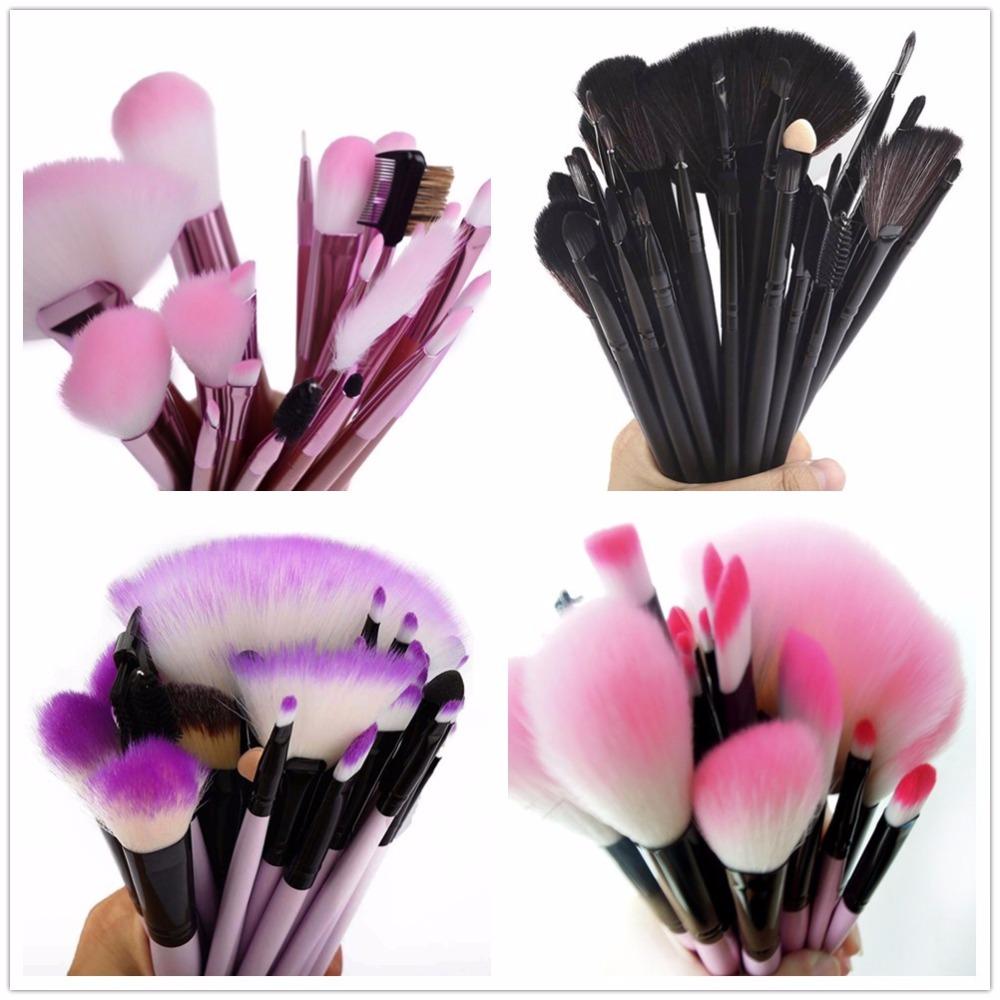 Gift Bag Of 32pcs Makeup Brush Sets Professional Cosmetics Brushes Eyebrow Powder Foundation Shadows Pinceaux Make Up Tools(China (Mainland))