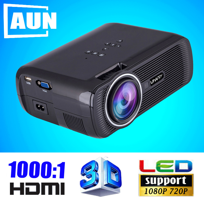 2015 New 1000 Lmens 3D Projector 1000:1 Contrast LED Projector Support 1080P Home Cinema Videoprojecteur U80XG9(China (Mainland))