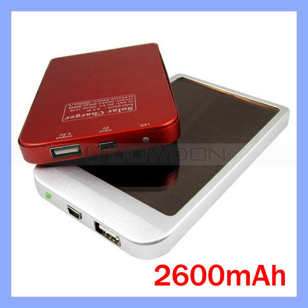 2600mAh Solar Power External Battery Charger for Samsung Galaxy S4 Note ll(China (Mainland))