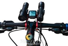 Mountain Bike Handlebar Extender Expander, CNC Anodised Bicycle Multicolor Mount Headlight Flashlight Lamp Holder GUB 558