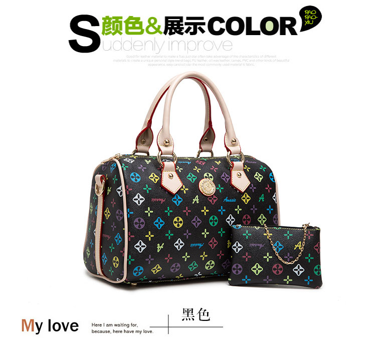 Women Ladies Flower Star Genuine Leather Cusual Travel Tote Handbag Satchel East West Crossbody Bag(China (Mainland))