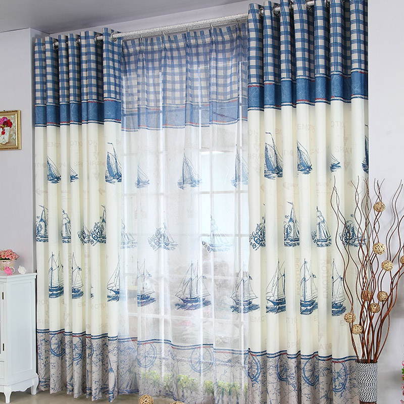 Cartoon Sailing Ship Design Shading Curtain Blackout: Popular Boat Curtains-Buy Cheap Boat Curtains Lots From