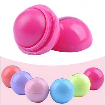 6 шт./лот 6 цвет новый круглый шар гладкой бальзам для губ фрукты вкус губ Lip smackers органические природные бальзам для губ макияж установить