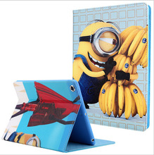 Hot selling minion case for Ipad air 1 high quality pu leather&tpu material smart holder cover for Ipad 5 A1474 A1475 A1476(China (Mainland))