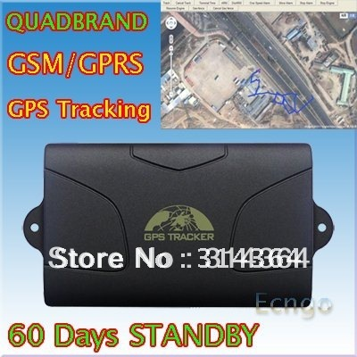 Wholesale Real-Time Long standby Magnet Weatherproof Car GPS Tracker tk104 4 bands GSM/GPRS/GPS Auto Tracking Device(China (Mainland))
