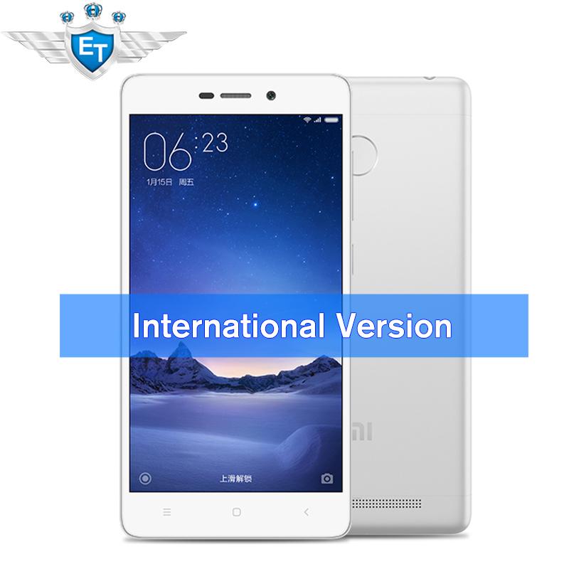[International Edition] Xiaomi MI Redmi 3 Pro Prime 4G Cell Phone 3G RAM 32G ROM Fingerprint 4100mAh Snapdragon 616 Octa Core(China (Mainland))