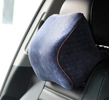 Velvet Car Head Pillow Space Memory Foam Pillow Comfortable Car Pillow Head pillow PL23113122(China (Mainland))