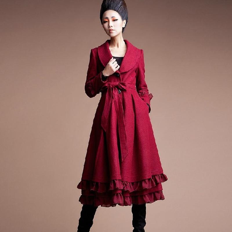 BOHOCHIC Original Vintage Women Winter Coat 2015 European And American Style Long Loose Ladies Wool Blends AZ0182Q Boho Chic