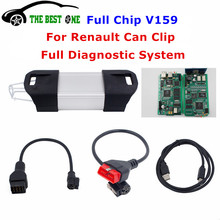 2016 Newest V159 For Renault Can Clip Diagnostic Interface With Full Chip Can Clip For Renault Car Best Auto Scanner DHL Free(China (Mainland))