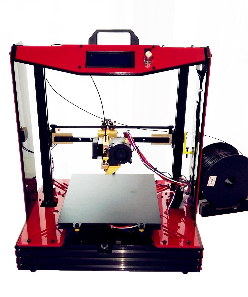 Large Reprap Prusa mendel i3 plus i4 assembled imprimante 3d Machine Metal Printer Dreamer Elektronic Diy Kit Aluminum frame(China (Mainland))