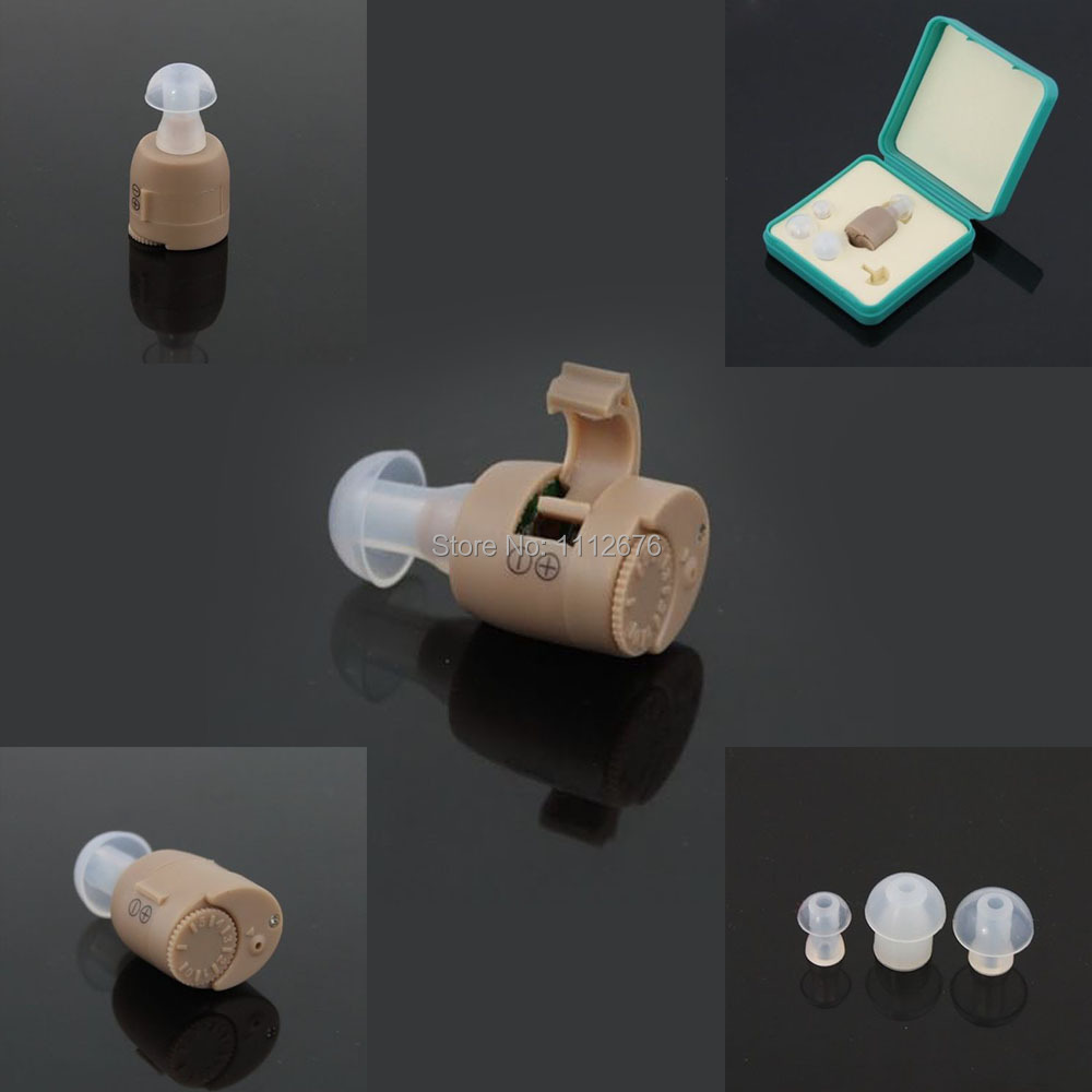 High Quality Mini Best Sound Amplifier Adjustable Tone In Ear Hearing Aid Audiphone Acousticon F-883(China (Mainland))