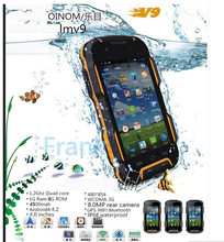Original OINOM LMV9 Waterproof IP68 Shockproof phone 4500mAH Quad core 4inch 1G RAM 8G WCDMA Android4.4.2 8MP z6 discovery v8 v9(China (Mainland))