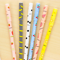 48 pcs/Lot Fresh fruit pens 0.38mm black ink gel pen Cute canetas escolar Stationery Office accessories School supplies 6587
