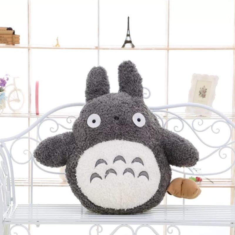 Free Shipping 35cm Soft Plush Toy Doll Cute Totoro Hayao Miyazaki Large Pillow Cushions Cartoon Doll Birthday Gift