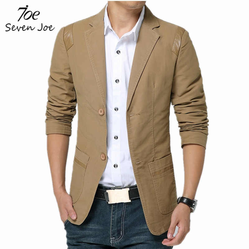 Seven Joe.New Arrival Men Blazers Single Breasted Black Brown Jacket Slim Fit spring Blazers Suits For Men Terno Masculino(China (Mainland))