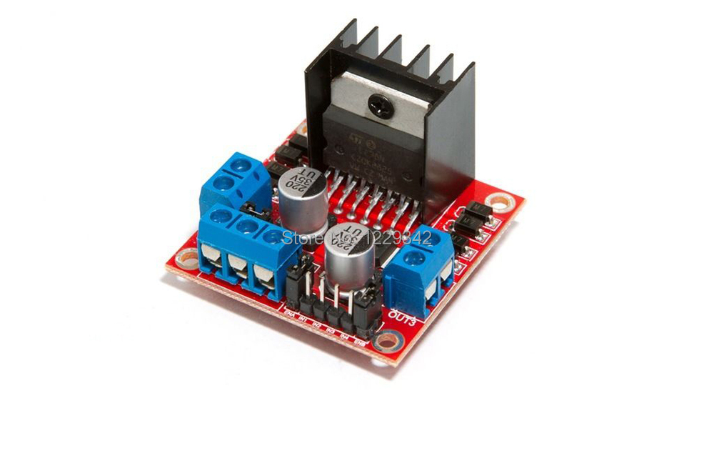L298n dual h bridge stepper motor driver controller board for Raspberry pi motor speed control