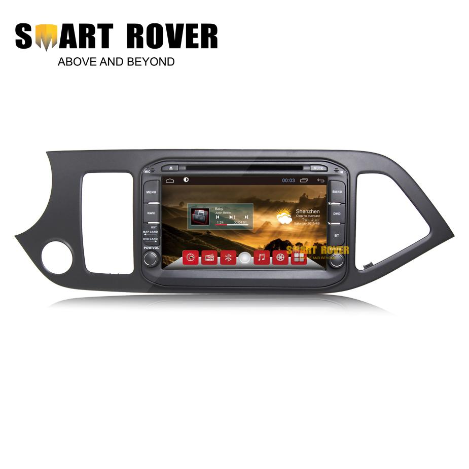 Android 4.4 Car DVD GPS+Glonass For Kia Morning Picanto 2011-2014 Auto Radio Navi Stereo Audio Video Player Mirror Link 3G WiFi(Hong Kong)