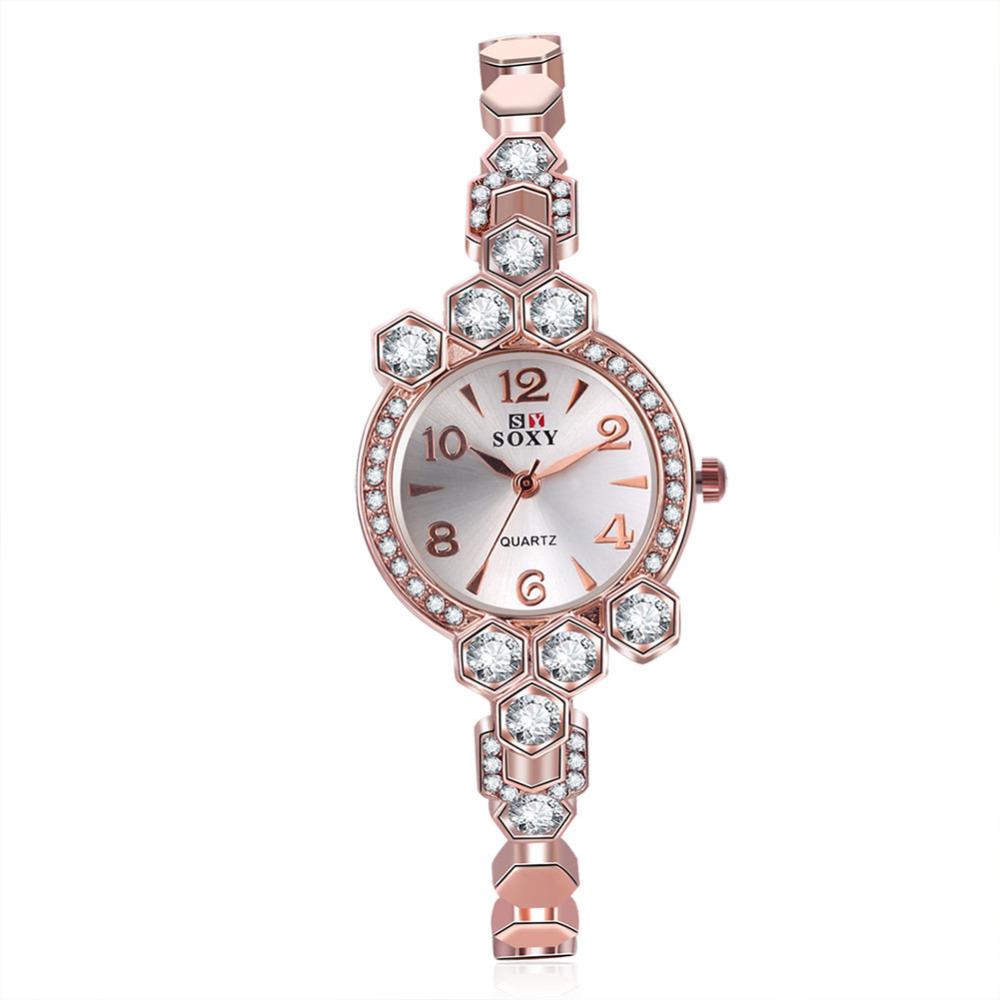 2016 fashion girls bracelet watch famous brand SOXY designer ultra thin women watch with rhinestones reloj de mujer<br><br>Aliexpress