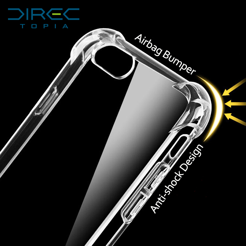 Transparent 3D Shockproof Thick Bumper Phone Cases Cover for iPhone 6 6s i6 Plus for iPhone 5s SE 5 Silicone Case(China (Mainland))