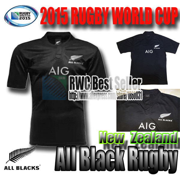 2015 2016 all blacks New Zealand All Blacks Rugby Shirt 2014/15 16 sevens Season All Blacks Men Rugby best quality jersey S-XXL(China (Mainland))