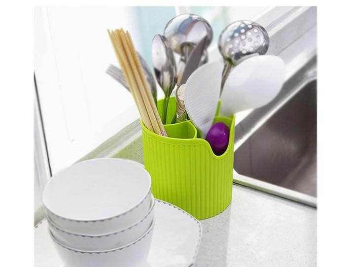 New design candy color Kitchen storage box tableware knife fork spoon storage bins drain cutlery kitchen tools holder