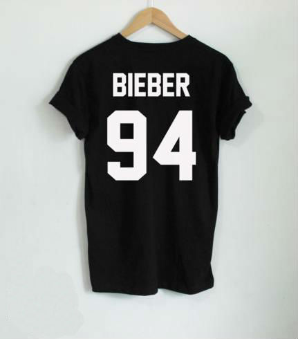 JUSTIN BIEBER 94 Back Letters Print Women T shirt Cotton Casual Funny Shirt For Lady White Black Gray Top Tee Hipster Z-285Одежда и ак�е��уары<br><br><br>Aliexpress