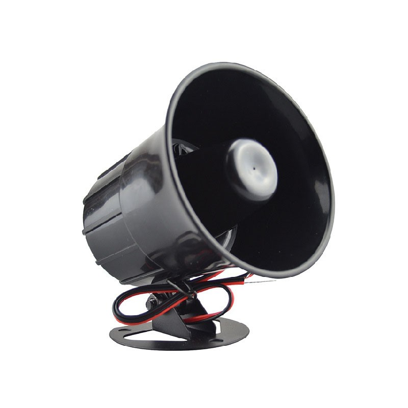 Anti-theft Alarm Horn DC 12V Wired Loud Alarm Siren Horns Outdoor With Metal Bracket For Home Security Protection System ES-626 (1)
