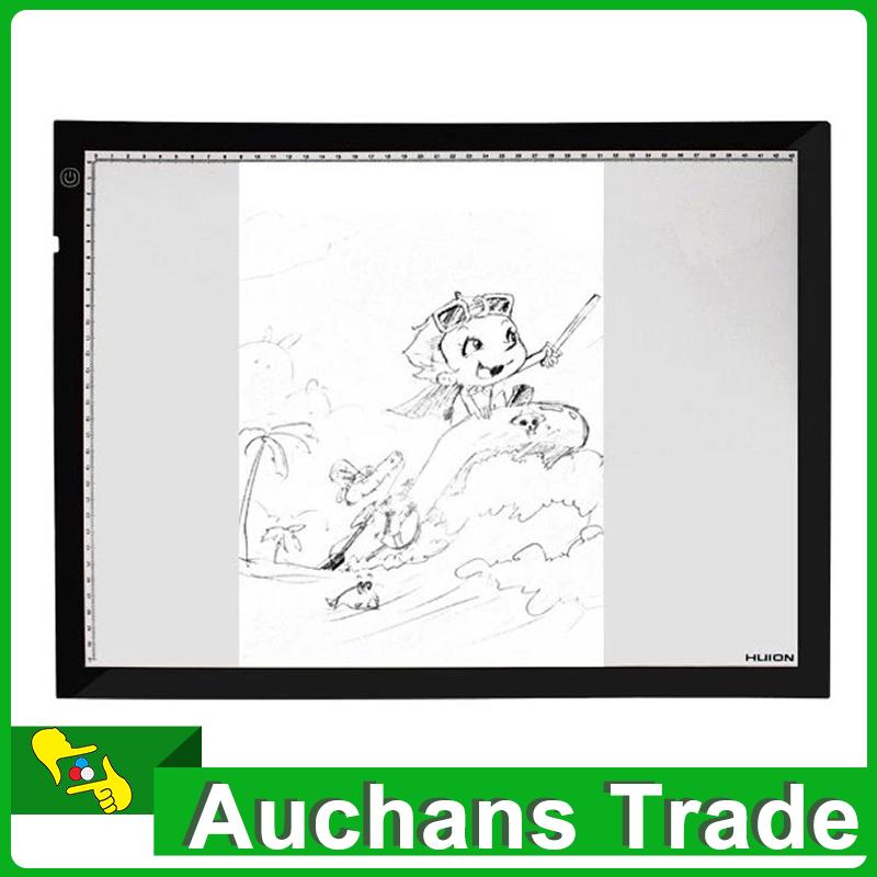 New HUION Light Box Thin A4 LED Animation Drawing Tracing Stencil Board Table Pad Light Box Drawing Tablet(China (Mainland))