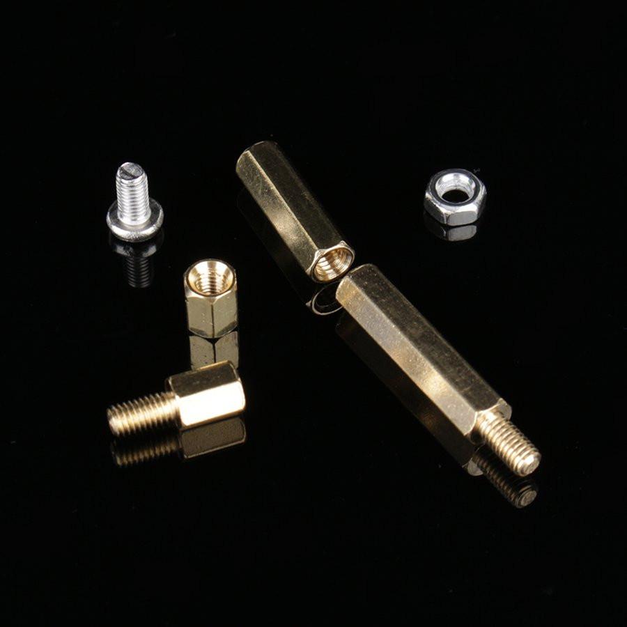 120Set M3 Male Female Brass Standoff Spacer PCB Board Hex Screws Nut Assortment