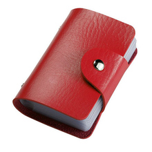 24 Bits Credit Card Holder PU Leather Hasp Event & Party Supplies small gift A38(China (Mainland))