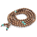 108 Wenge Prayer Beads Buddha Bracelet Wood Necklace with Resin Beads Fashion Accessories Jewelry For Men