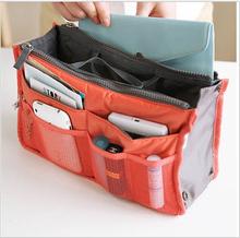 9 Colors Make up organizer bag Women Men Casual travel bag multi functional Cosmetic Bags to storage bag in bag Makeup Handbag(China (Mainland))