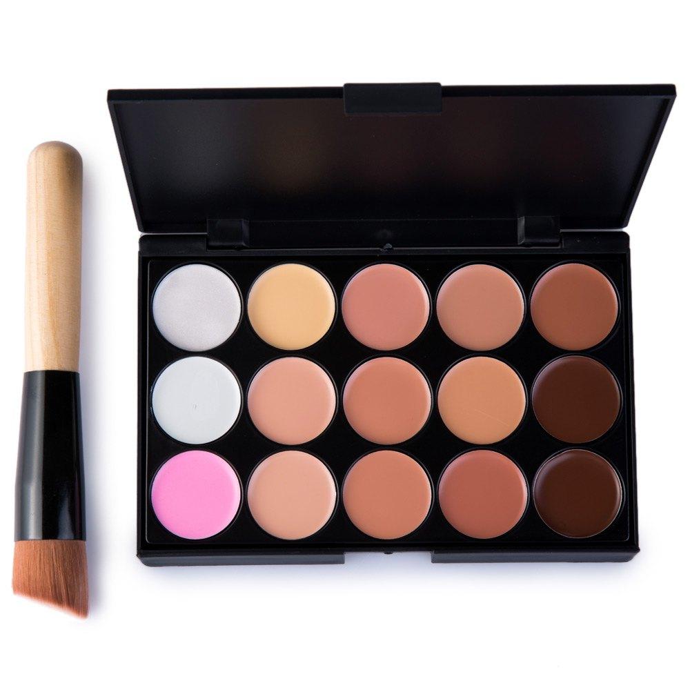 15 Colors Maquiagem Professional Salon Concealer Palette Makeup Party Contour Palette Face Cream Women Makeup Palette 1439319(China (Mainland))