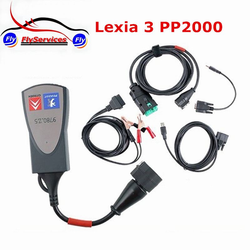Best Quality Diagbox 7.61 Lexia3 PP2000 Lexia 3 For Citroen For Peugeot Diagnostic Tool With Multi-languages Fast Shipping(China (Mainland))