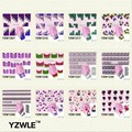 YZWLE 1 Pcs Nail Art de Água Adesivos de Unhas Beleza Wraps Foil Polonês Decalques Tatuagens Temporárias Watermark
