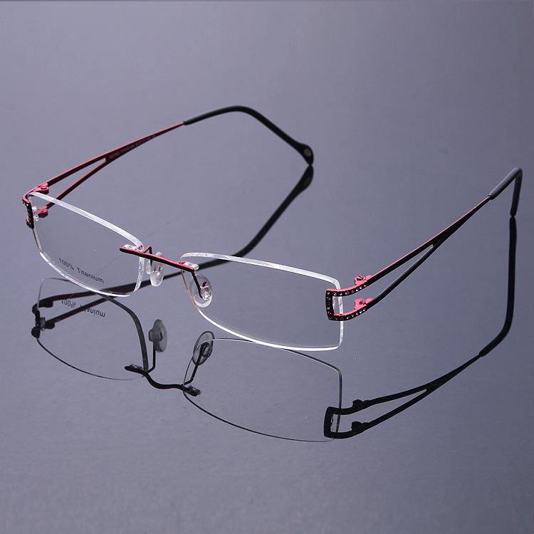 Rimless Eyeglass Titanium Frames : New 2016 Fashion High Grade Ultralight Titanium Flexible ...