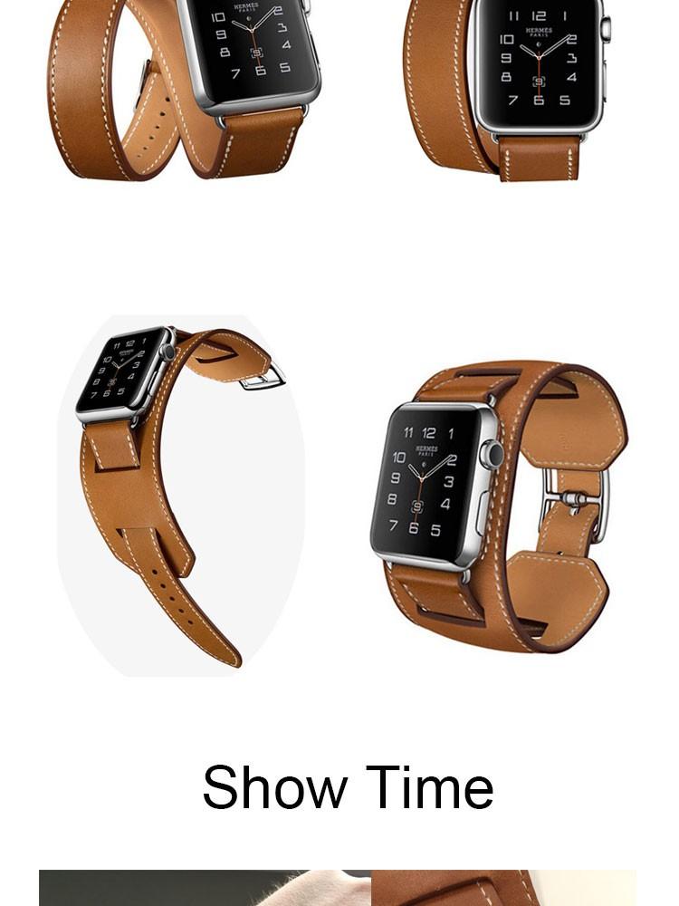 Высокое Качество Удлиненные Кожаный Ремешок Для Apple Смотреть Band Двойной Тур Браслет Кожаный Ремешок Для Часов 38 мм и 42 мм