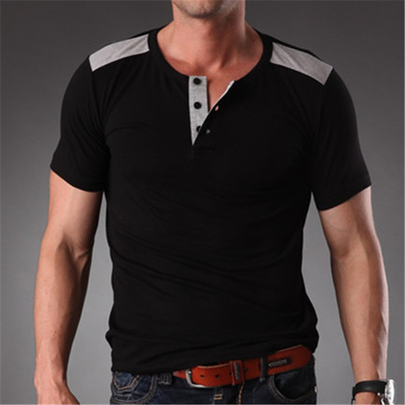 2016 latest stretchy plain colors fashion t shirts for men for High quality mens shirts