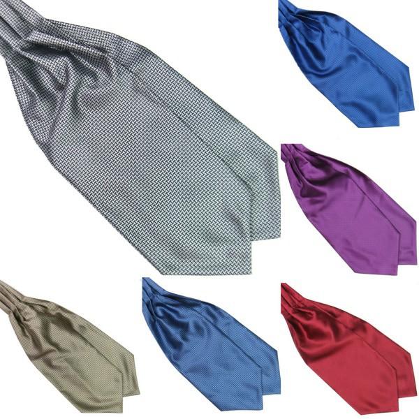 Hot vente 7 couleurs Polyester soie hommes liens Ascot cravate cravate écharpe la main foulard(China (Mainland))