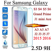 Buy 9H Screen Protector Tempered Glass Film Samsung Galaxy J5 J7 S3 S4 S5 S6 A3 A5 A7 2016 J1 mini Ace Core 2 C5 C7 Grand Prime for $1.09 in AliExpress store